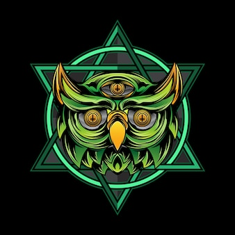 Owl design illustration