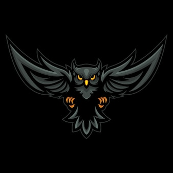 Owl esport logo illustration