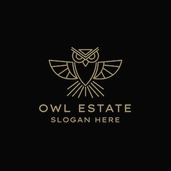 フクロウの地所のロゴ