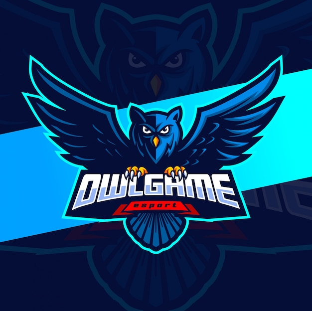 Owl game mascot esport logo design
