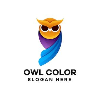 Owl gradient logo design