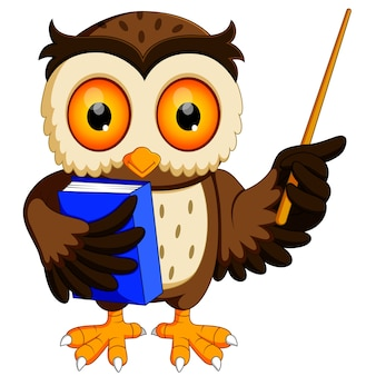 Owl in the graduate's carrying book