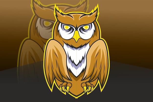 Owl hand drawing illustration