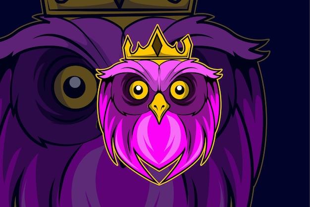 Шаблон логотипа команды киберспорта головы совы