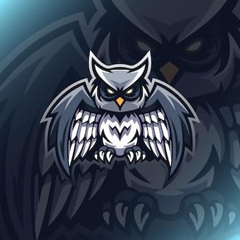 Owl illustration logo mascot