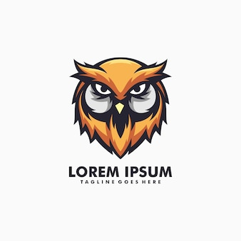 Owl illustration logo vector