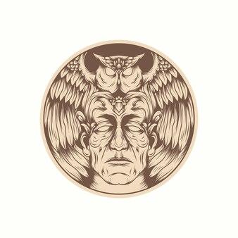 Owl illustration vector