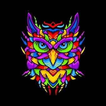 フクロウのイラスト