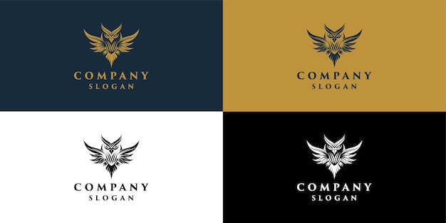 Owl logo for company education and decoration