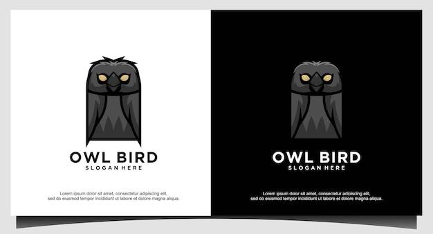 Owl logo design template vector