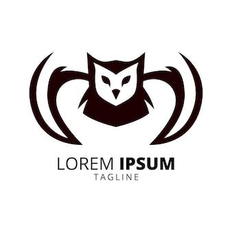 Сова логотип дизайн вектор шаблон