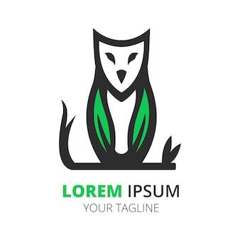Owl logo design vector template