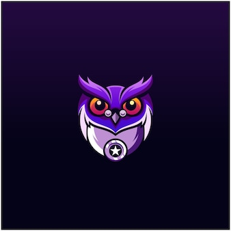 Сова дизайн логотипа