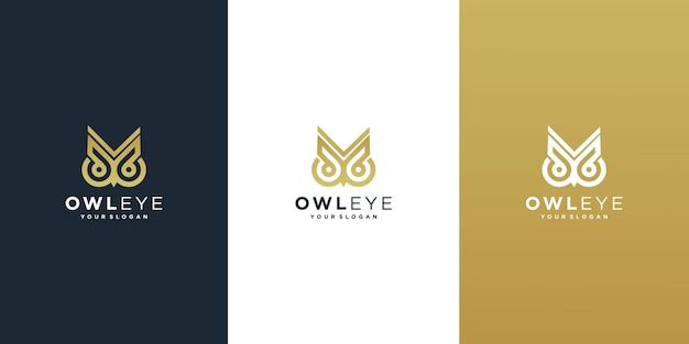 フクロウのロゴ目のロゴのデザイン