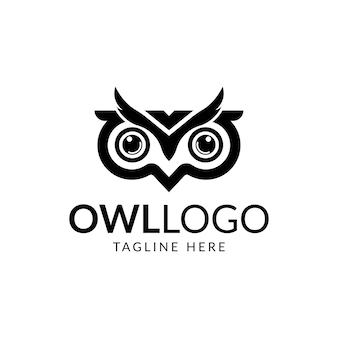 Owl logo eye logo.
