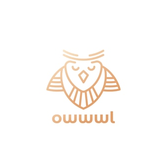Owl logo in line design