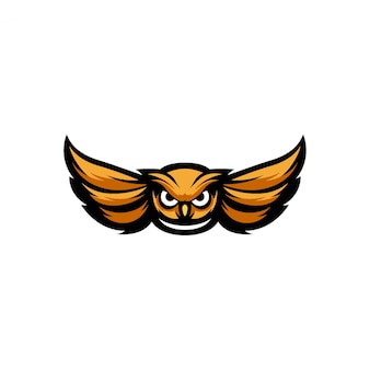 フクロウのマスコットのロゴのテンプレート