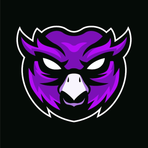 The owl mascot logo