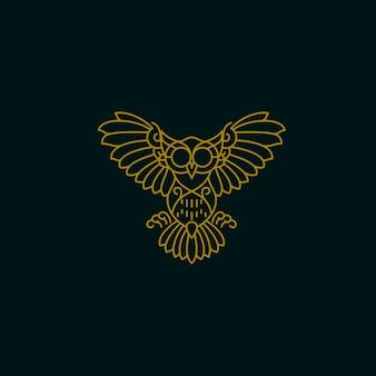 Owl monoline design
