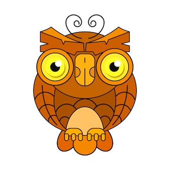 Owl or owl bird sketch vector isolated icon