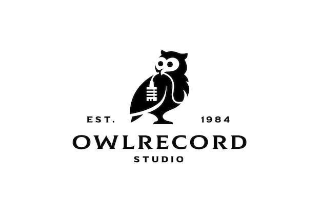 フクロウのレコードスタジオのロゴ