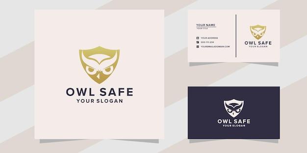 Owl safe logo template