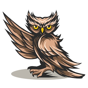 Owl say hi vector illustration design isolated on white
