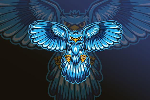 フクロウ分隊eスポーツロゴのベクトル