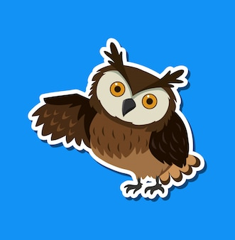 An owl sticker character