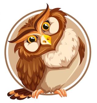 A owl sticker template