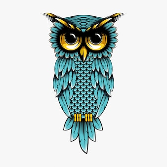 Owl vector design illustration