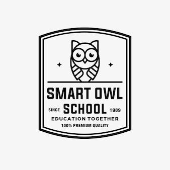 Owl vector logo illustration