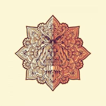 Owl vintage logo
