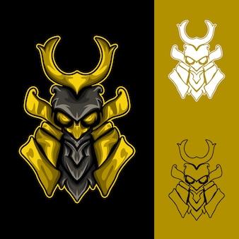 Owl warrior : logo e-sport gaming