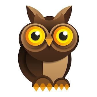 Owl on white background vector illustration for your design.