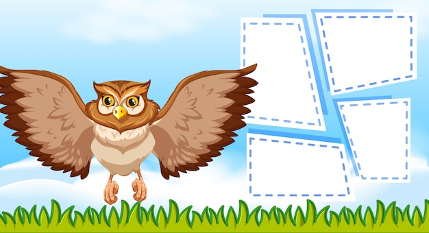 Owl with frame template