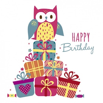 Owl with gifts