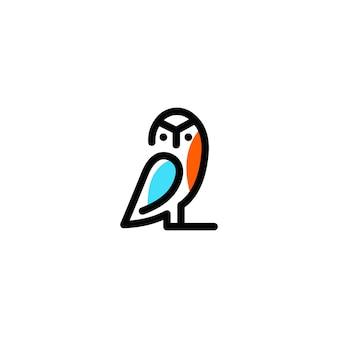 Owl логотип векторная графика минималистский набросок искусство