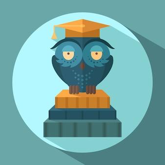 Owls in graduation cap
