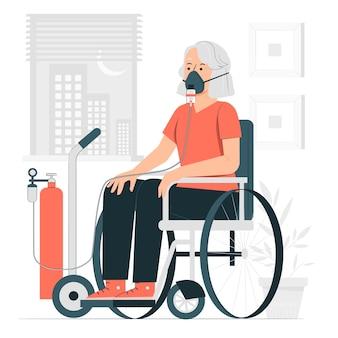 Oxygen mask concept illustration