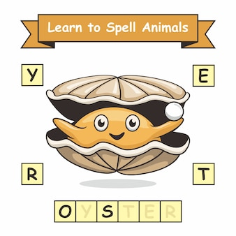 Oyster learn to spelling animal names worksheet