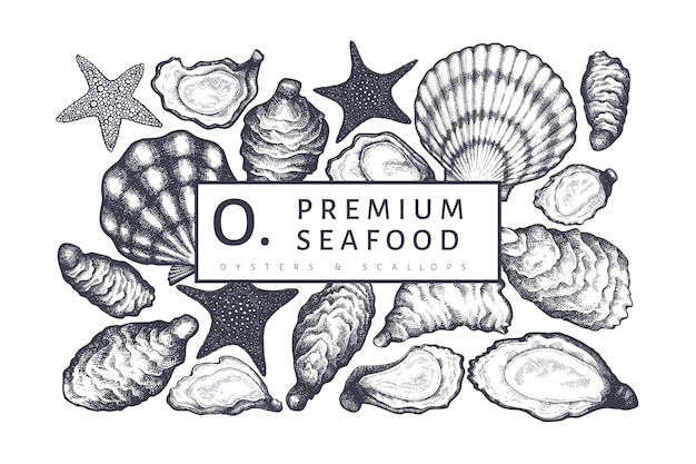 Oysters design template.