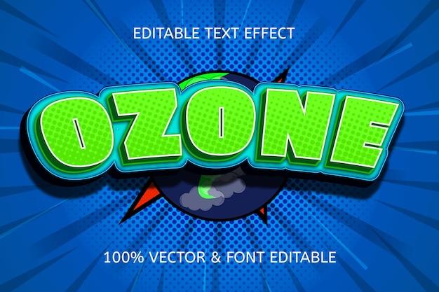 オゾン色緑青編集可能なテキスト効果