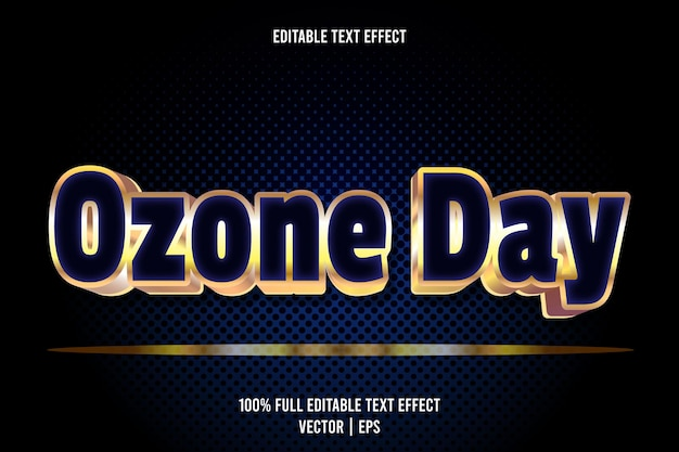 Ozone day editable text effect 3 dimension emboss luxury style