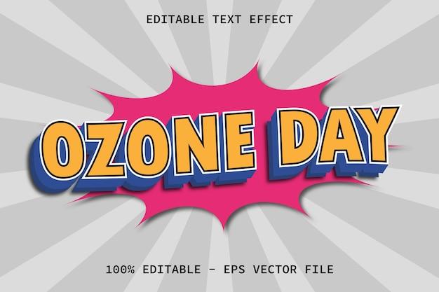 モダンコミックスタイルの編集可能なテキスト効果のあるオゾンの日