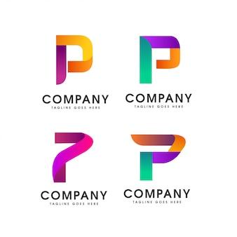 P абстрактный Письмо Логотип