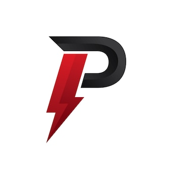 Буква p logo power