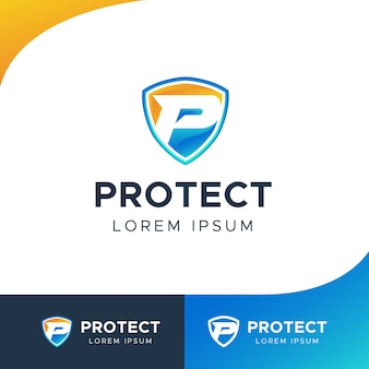 P protect shield logo
