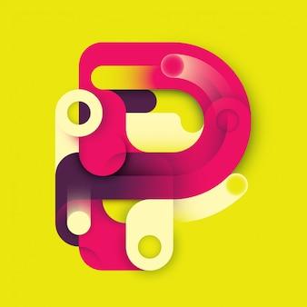 Буква p дизайн