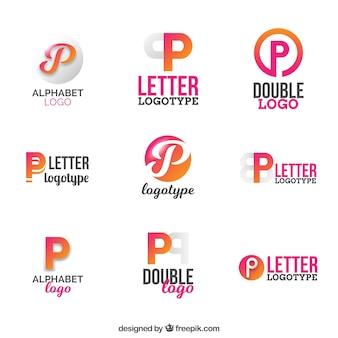 「p」文字ロゴの収集